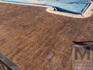 piso de cemento impreso imitación madera