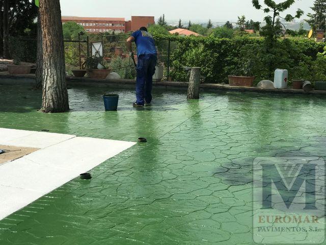 Pavimento de Hormigón Impreso verde