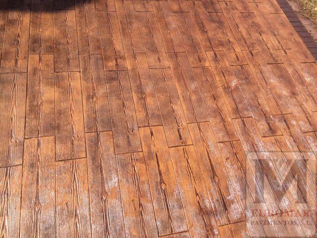 foto HD de hormigón impreso madera