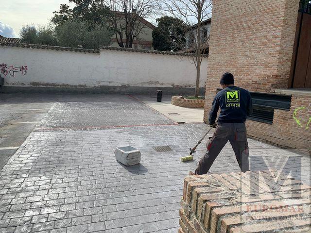 Nuestra de trabajos en pavimentos de hormigón
