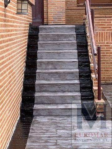 Escaleras de hormigon impreso