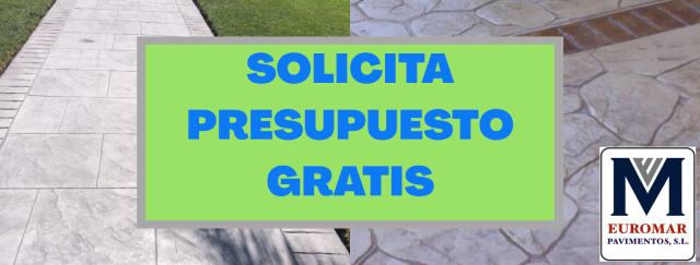 presupuesto de pavimento de hormigon impreso en madrid